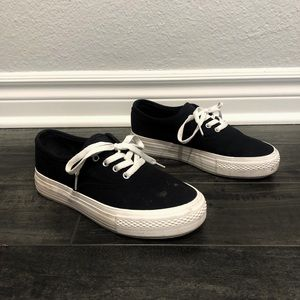 Forever 21 black and white platform sneakers